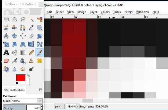GIMP photo pixel editor