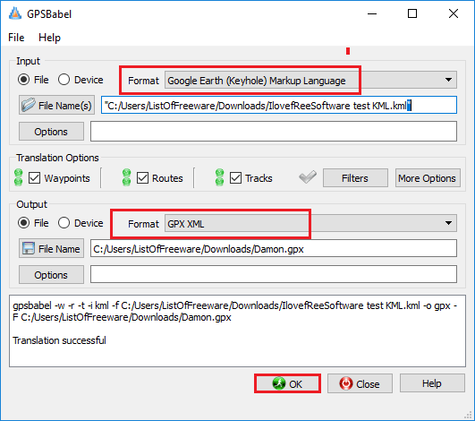5 Free KML to GPX Converter Software for Windows