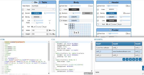 HTML Table Styler