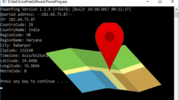 IP to Location with this Command Line Utility for Windows