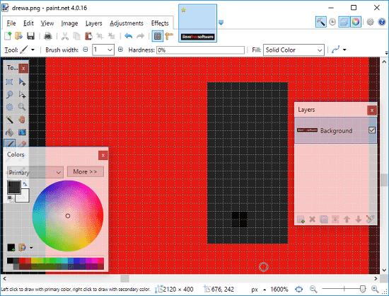 Paint.net photo pixel editor