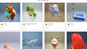 Search, Download, Share 3D Objects in Windows 10 Remix 3D