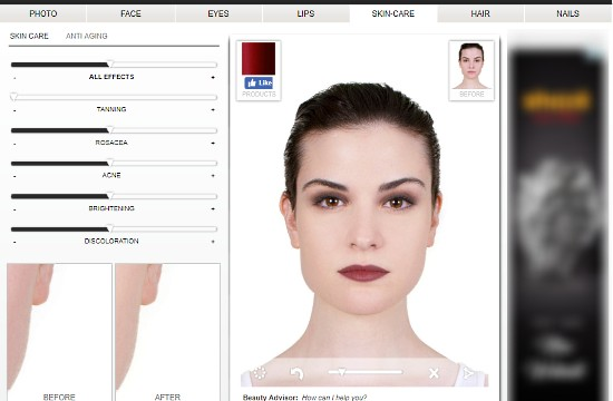 Virtual Makeover Online