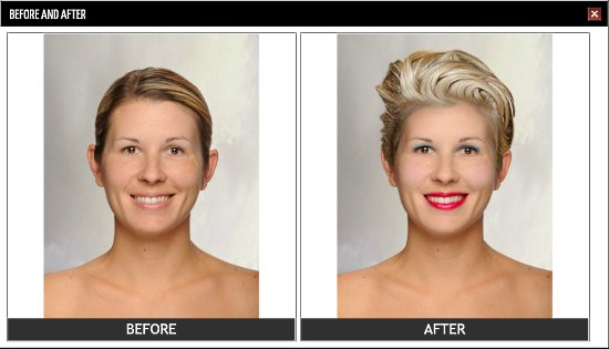 online virtual makeover