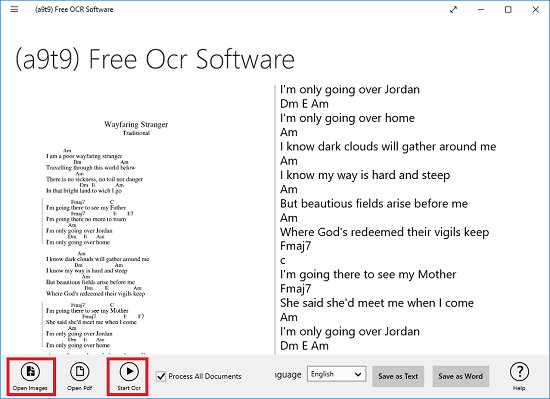 a9t9 free ocr software windows