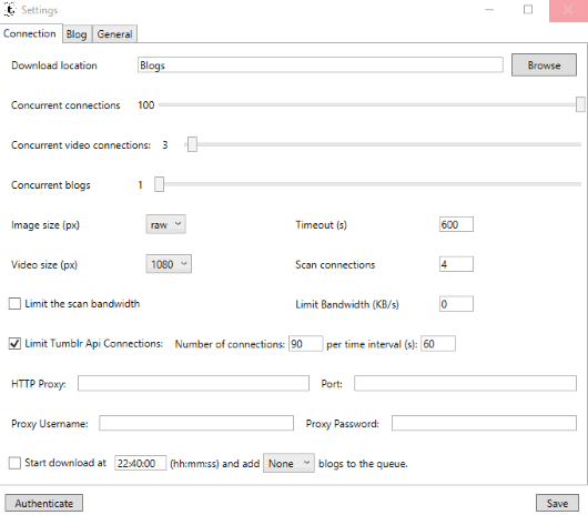 adjust settings