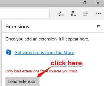 click load extension button