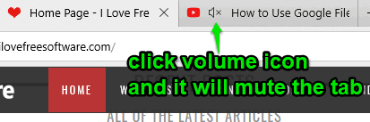 click volume icon in tab to mute it