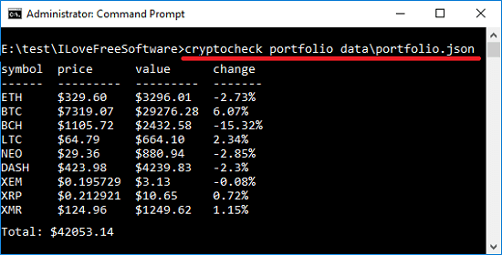 cryptocheck query curency