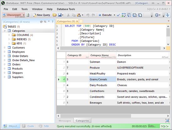 databse .Net SDF viewer