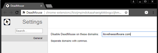 dead mouse settings