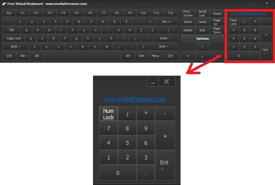 free virtual keyboard with virtual numpad