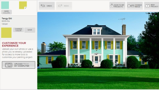 Valspar Is A Famous Paint Company Which Provides This Online Tool To House Virtually Again Here You Can Upload Your Own Photo Or Just Select From