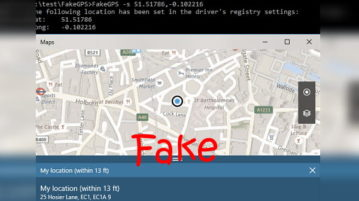 how to fake gps location in windows 10