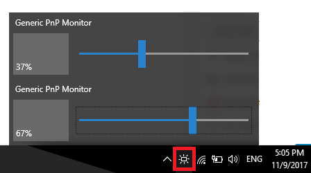 monitorian change brightness multiple monitors