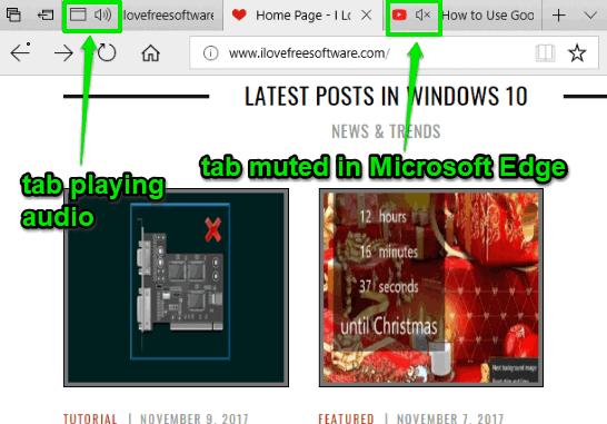 mute tabs in microsoft edge