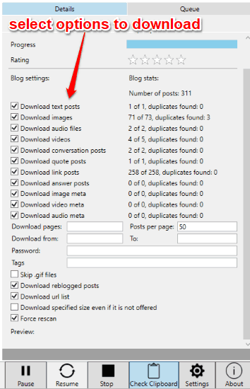How To Download Full Tumblr Blog Including Chats, Audio