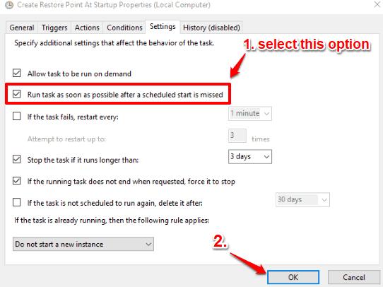 set settings tab option