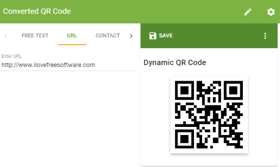 the-qrcode-generator website interface
