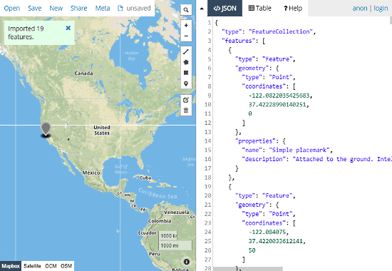 GeoJSON.io: GeoJSON to Shapefile converter