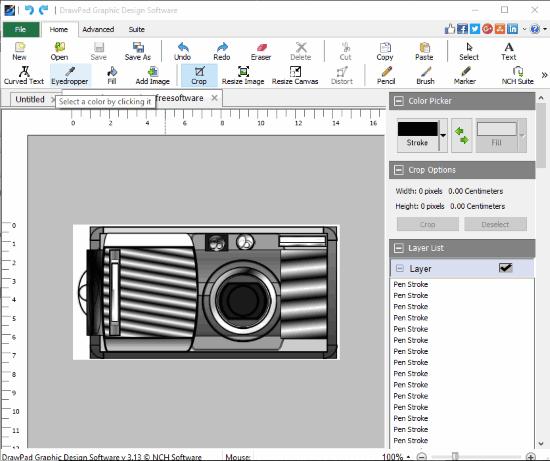 DrawPad- interface
