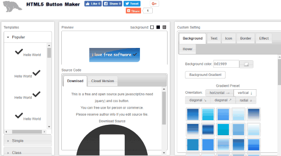 HTML5 Button Maker