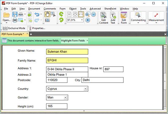 PDF-XChange Editor a free FDf viewer