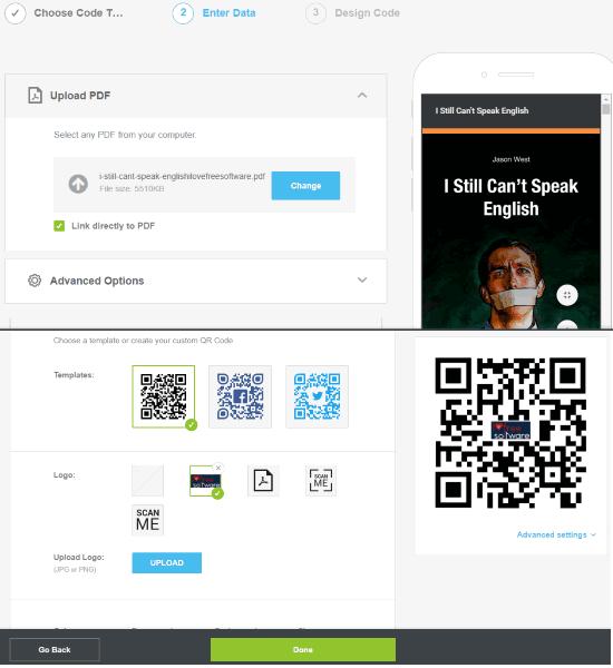 QR Code Generator website