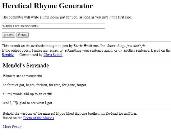 poem generator