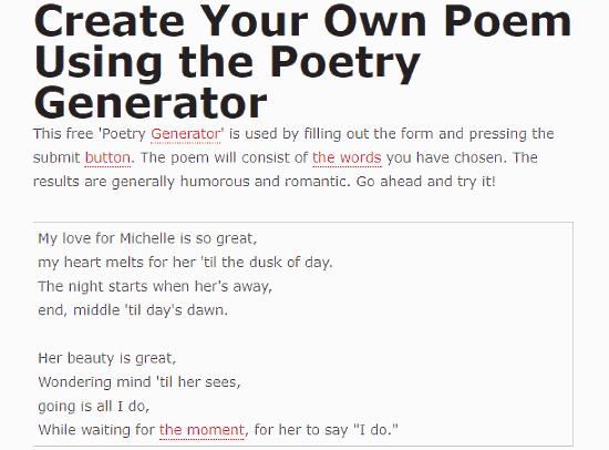 generate poem