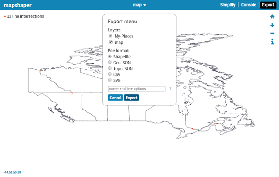 shapefiles viewer