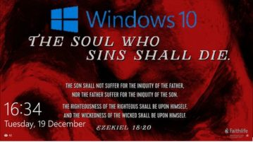 Show Bible Verse of the Day on Windows 10 Lock Screen