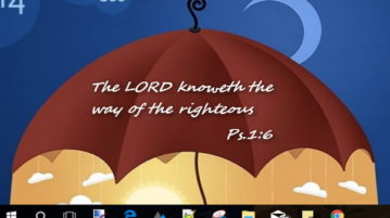 Show Random Bible Verse of the Day on Desktop
