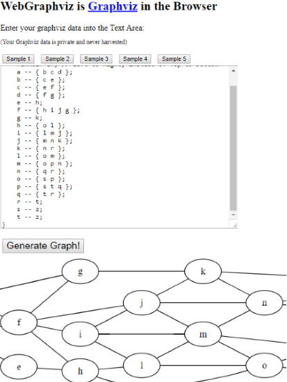 WebGraphviz interface