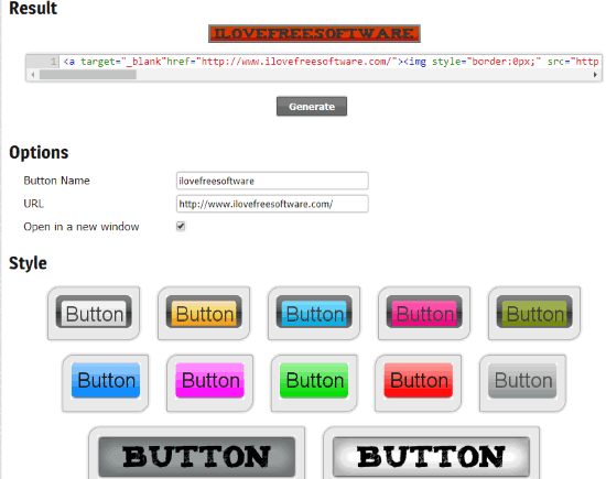 Webstools.com Button Maker