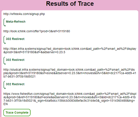WhereGoes free redirect tracer online