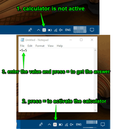 activate calculator and write values and press equal to get the answer