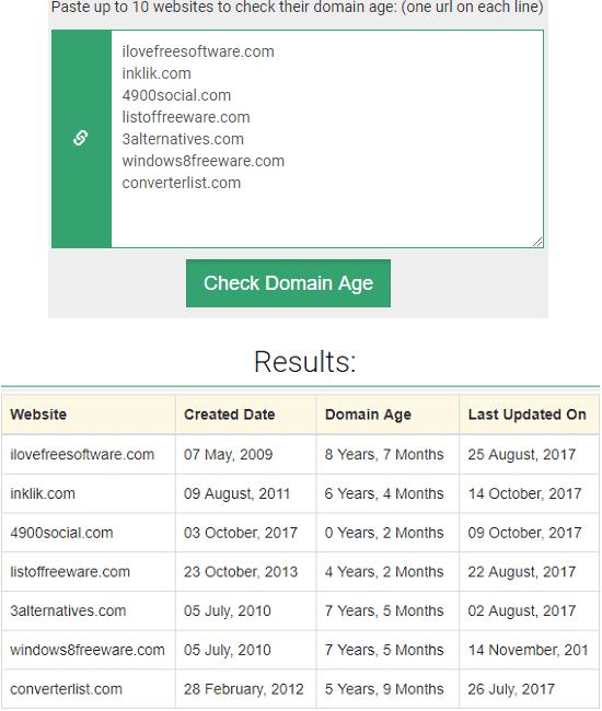 bulk domain age checker by PrepostSEO