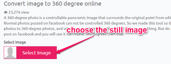 How to Convert Still Images to 360 Degree Images