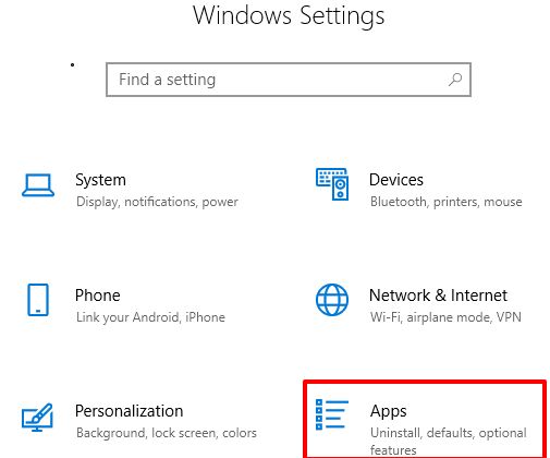 click apps menu