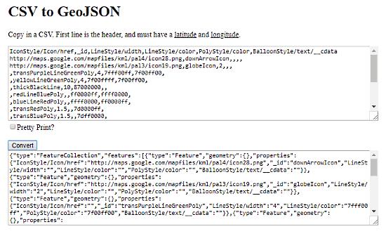 CSV.toGeoJSON: csv to geojson