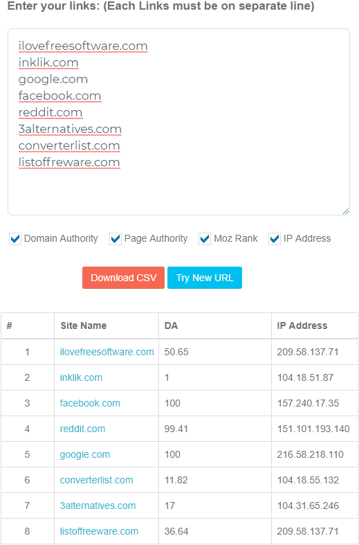 domain authority checker by bulk da checker