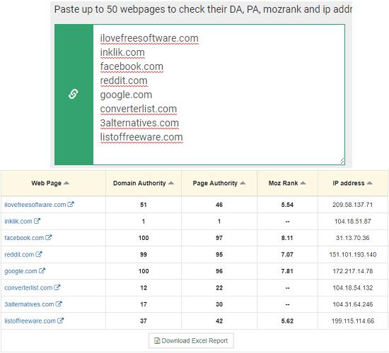 domain authority checker by prepostseo