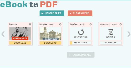 5 Free Online EPUB To MOBI Converters
