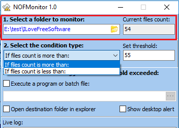 nof monitor set folder and triggers