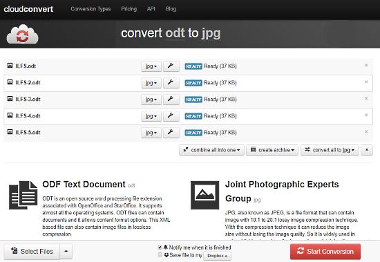 cloudconvert: odt to jpg