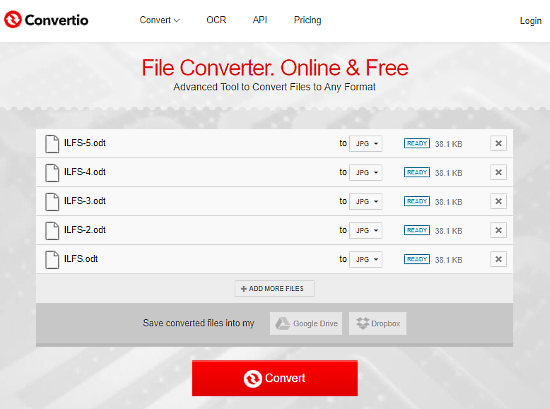 convertio: odt to jpg converter