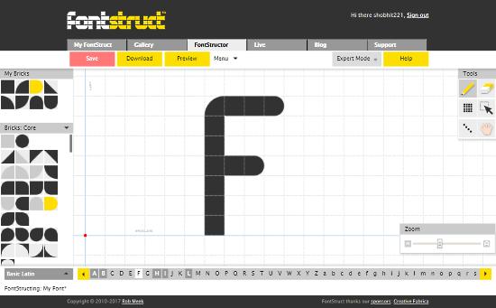 FontStruct: online font creator