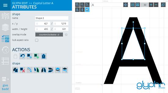 GlyphrStudio: edit font online