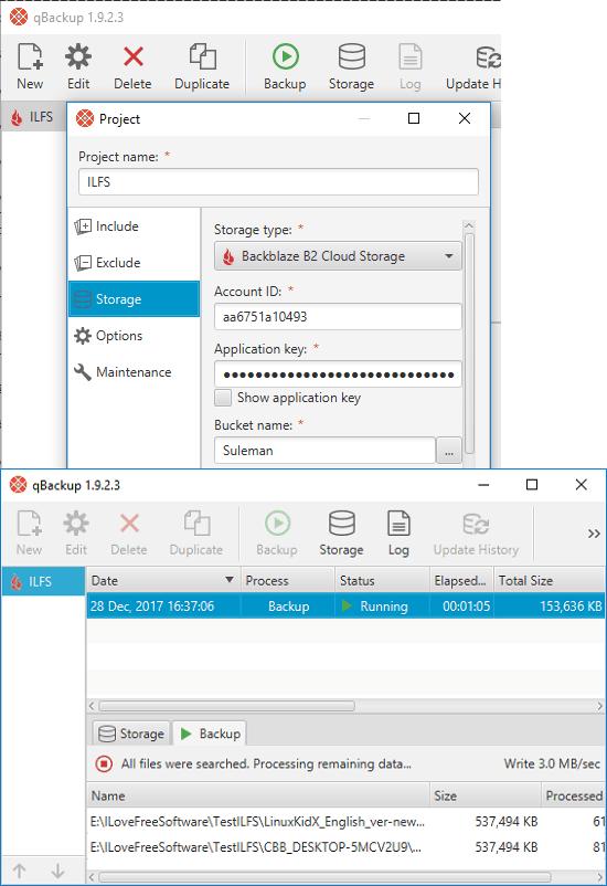qBackup Backblaze desktop cleints